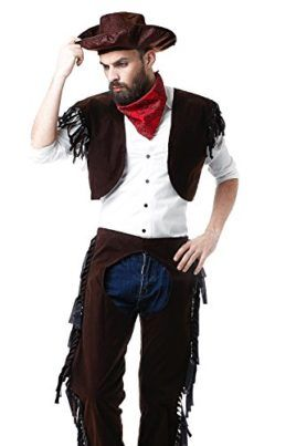 a6a96eb5bfc Adult Men Rodeo Cowboy Chaps Costume Wild West Sheriff Cowpoke Dress Up  Role Play Tag someone you think would look good in this! #Cowboy #Halloween  #Costume