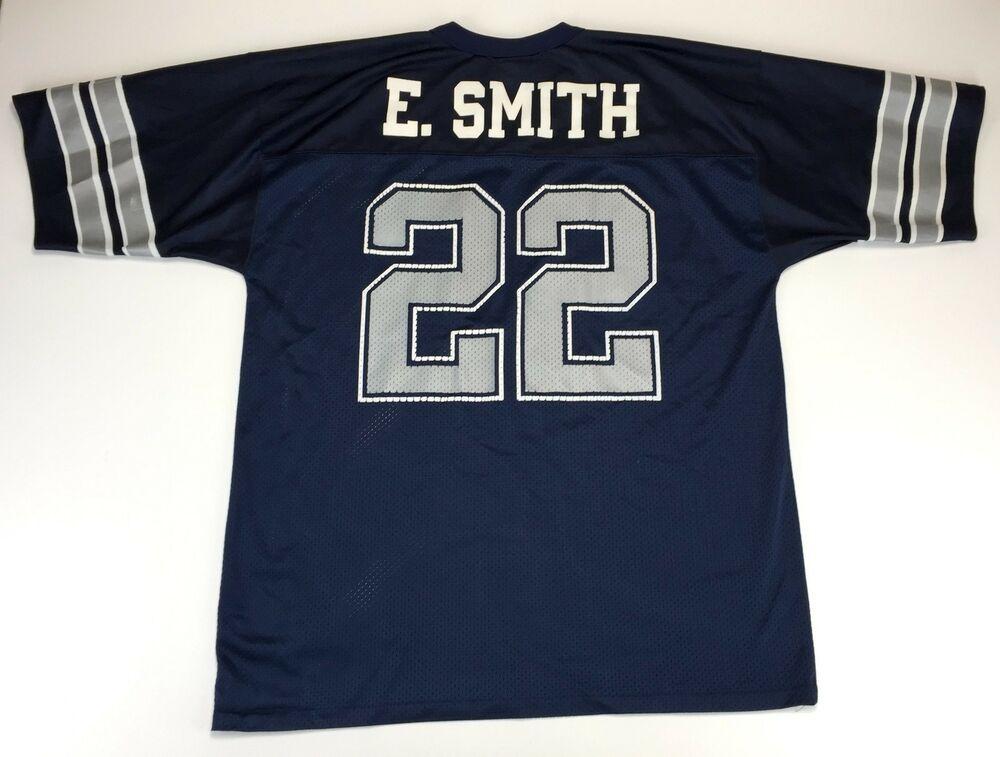 Dallas Cowboys Jersey Mens Adult Large Emmitt Smith Blue Mesh Logo Athletic   LALogoAthletic  DallasCowboys f5abe6e20