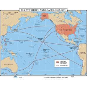 US Territory and Leases 1857-1903 (map 030) | History Wall Maps ...