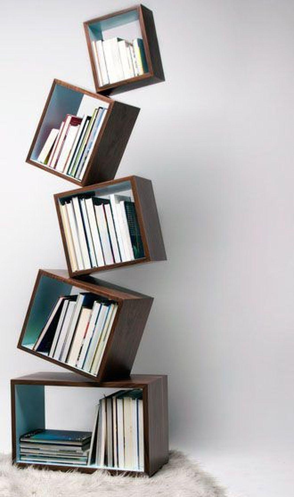 38 Creative Diy Bookshelf Ideas To Try Asap Bookshelves Diy Bookshelves For Small Spaces Creative Bookshelves