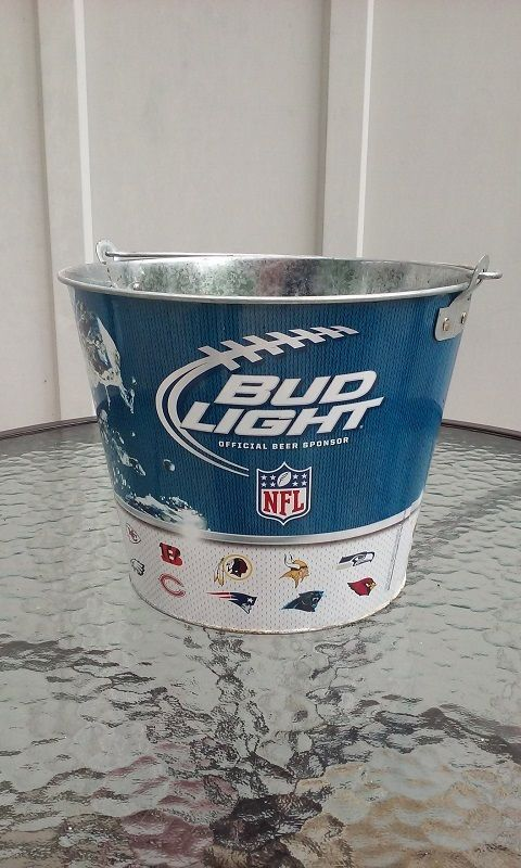 Bud Light Beer Nfl Ice Beer Metal Party Bucket Bud Light Beer Budweiser Beer Ice Beer