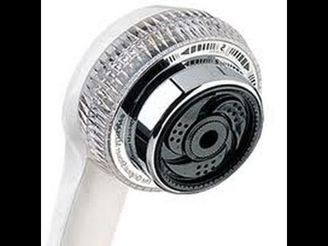 Waterpik remove water saving restrictor from shower head for more water pressure - YouTube