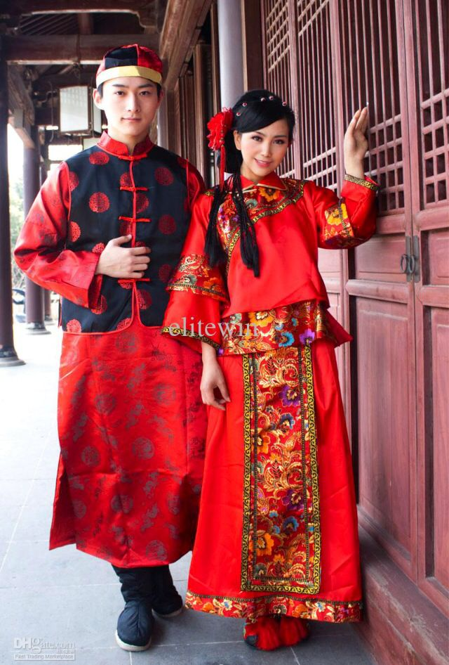 424589af8c72f Traditional Chinese Couple Ensemble. Traditional Chinese Couple Ensemble Chinese  Wedding Dress ...