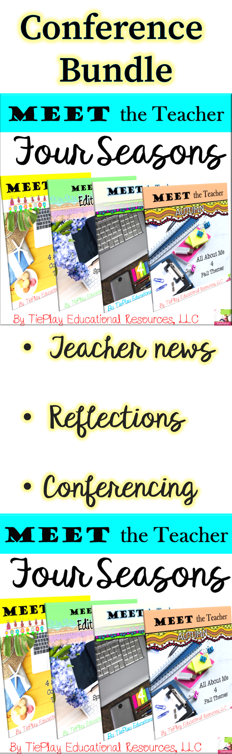 BUNDLE Meet the Teacher Parent Student Conferences Assessment Reflection No Prep #meettheteacherideas