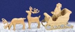 29-S-6022 - 3D Sleigh and Reindeer Scroll Saw Pattern