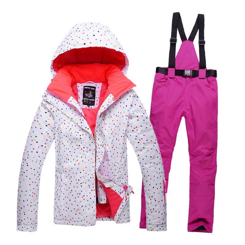 Winter Women Outdoor Sports Ski Jacket And Pants Suit Set Windproof  Waterproof Sportsjacket Trousers Snowboard Mountain 8e0e2009b