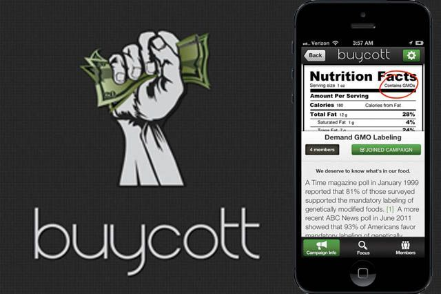 Here's another app to avoid Monsanto GMO containing products