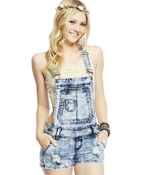 Blue Spice Acid Wash Shortall. - My bestie would love this @thisisher24