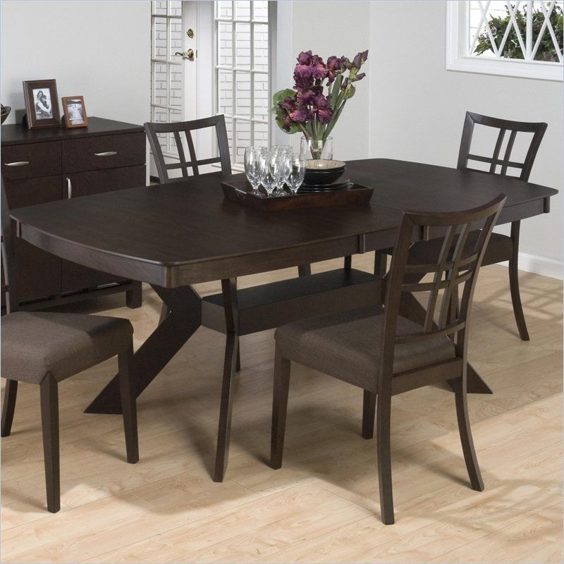 Jofran Pedestal Rectangular Dining Table In Ryder Ash KIT - Counter height table base kit