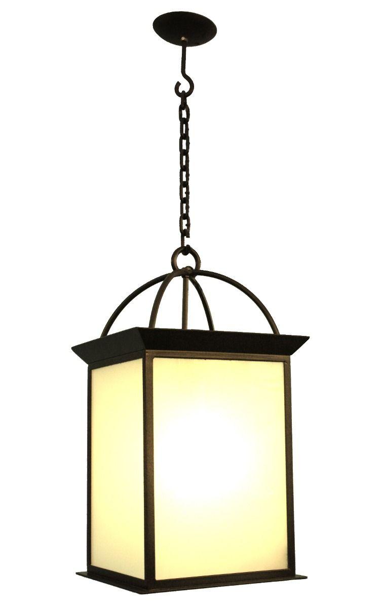 Farol colgante en hierro forjado ideal para galerias for Faroles en hierro forjado para jardin