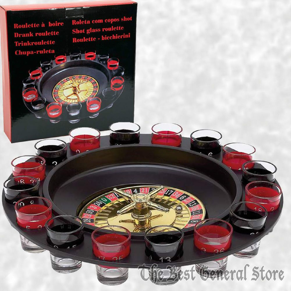 16Shot Roulette Wheel Adult Party Game Bar Drinking Set