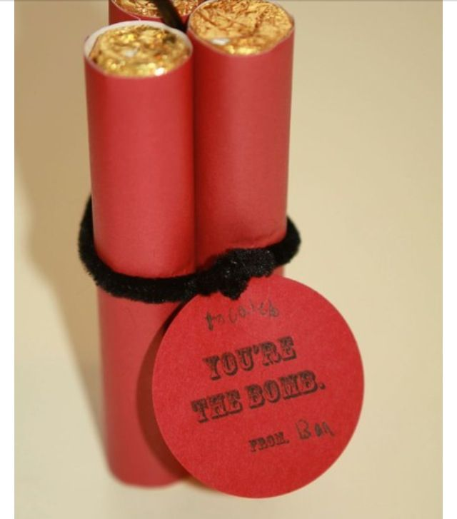Rolos in red paper