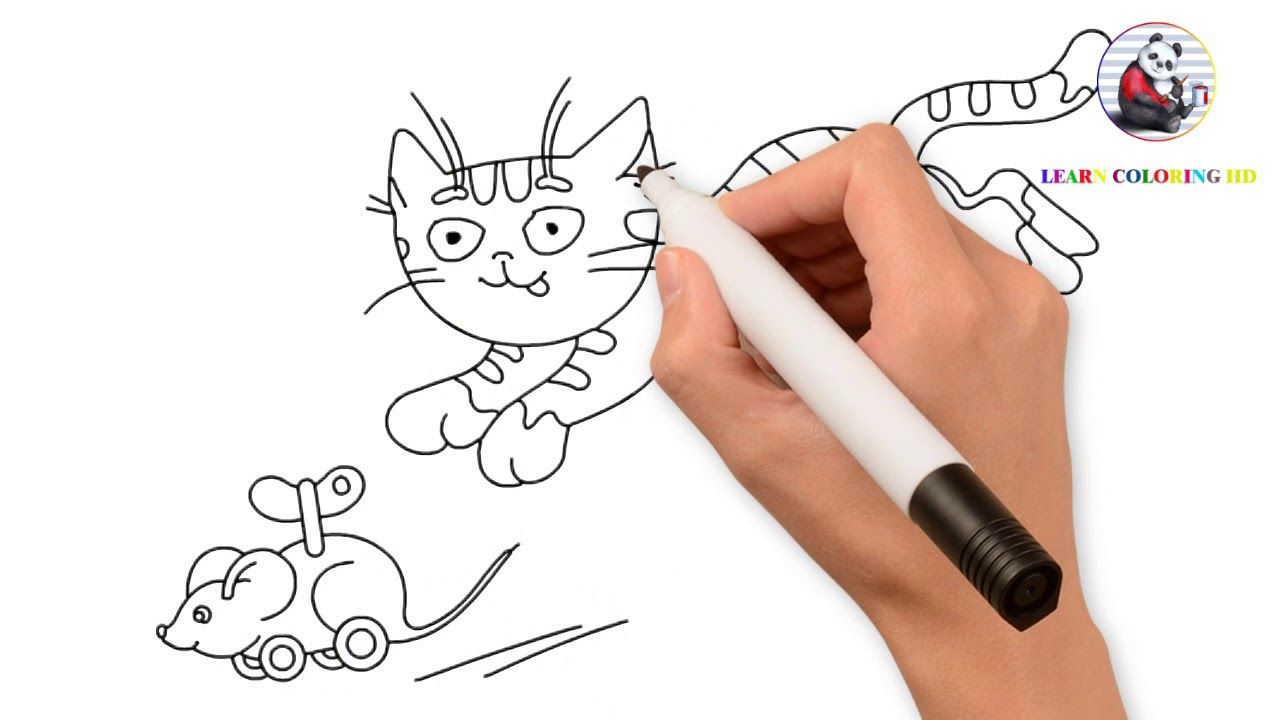 How To Draw A Outline Of Cartoon Cat For Kids Outline Of Cartoon Cat C Cat Coloring Page Coloring Pages For Kids Cartoon Cat