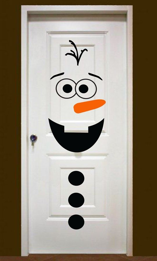 snowman door decor jane