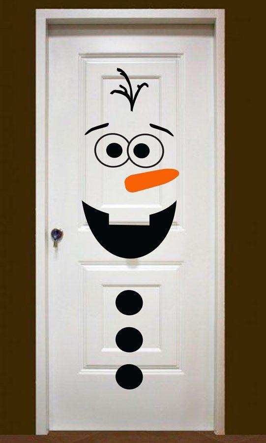 Snowman Door Decor Diy Christmas Door Decorations Diy Christmas