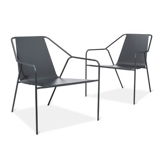 dwell modern lounge furniture. outdoor lounge chair 2 pk gray - modern by dwell magazine : target dwell modern lounge furniture