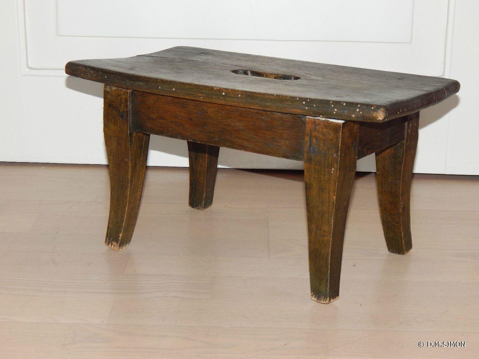 Antiker Hocker Schemel Fußbank Tritthocker Holz Gründerzeit Um 1880