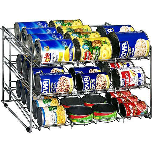 Organize It All 1866 Chrome Can Goods Rack Walmart Com Canned Food Storage Cabinets Organization Canned Food
