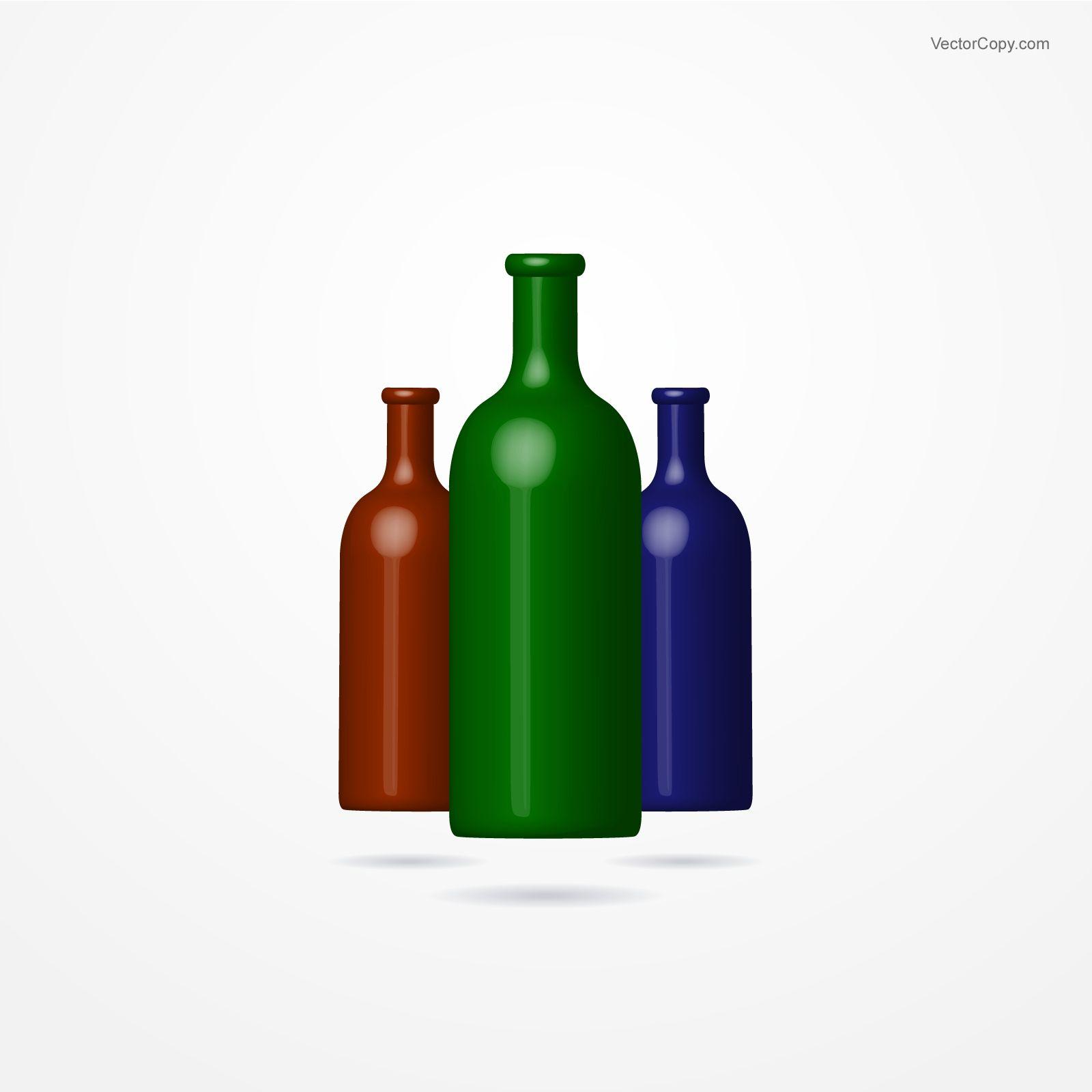 Bottles, free vector