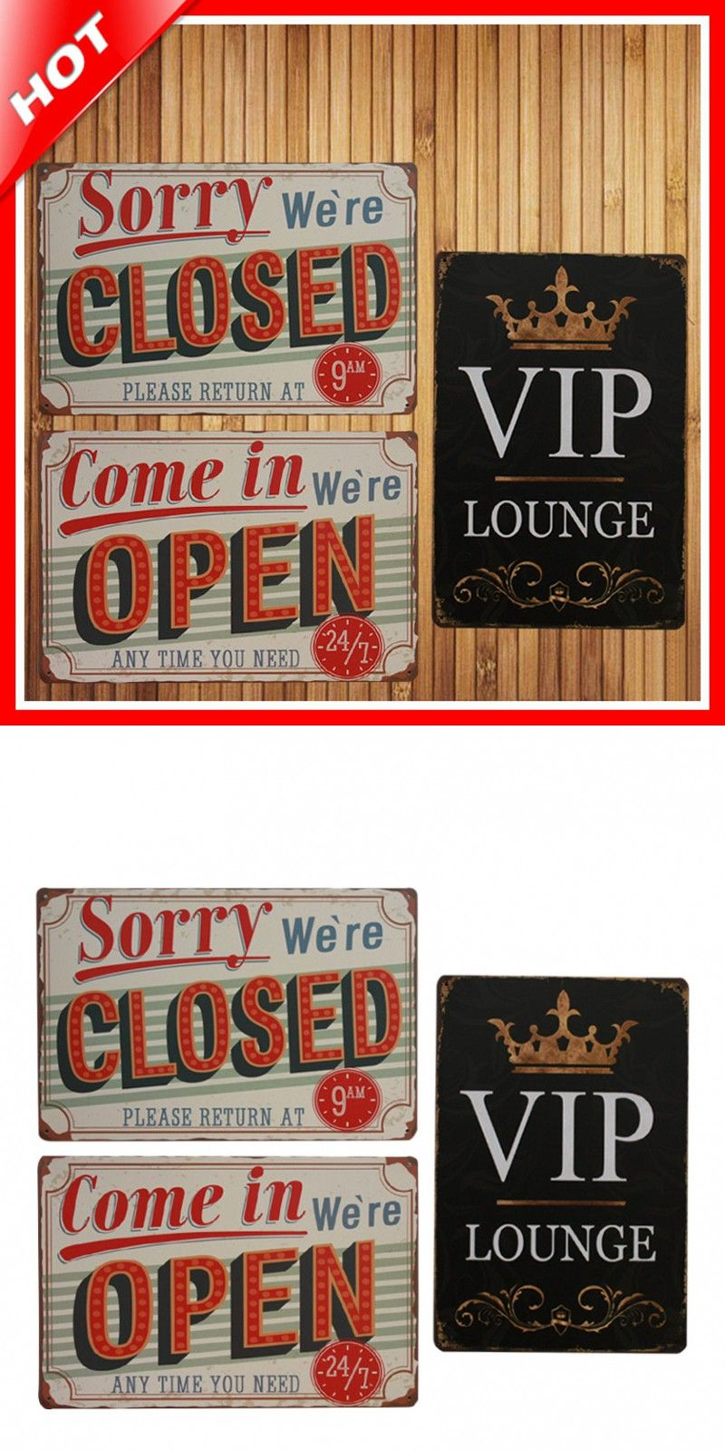 Hot Shop Show Set Chic Home Bar Vintage Metal Signs Home Decor Vintage Tin  Signs Pub