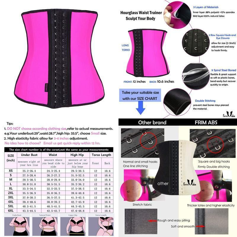 582351f84e Firm Abs Women S Latex Sport Girdle Waist Training Corset Waist Body Shaper   fashion  clothing