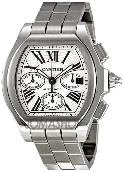 Cartier Roadster Silver Dial Automatic Chronograph Stainless Steel Mens Watch W6206019 $6,068
