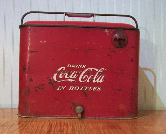 Vintage 1940s Or 1950s Coca Cola Picnic Cooler By ActionLtd
