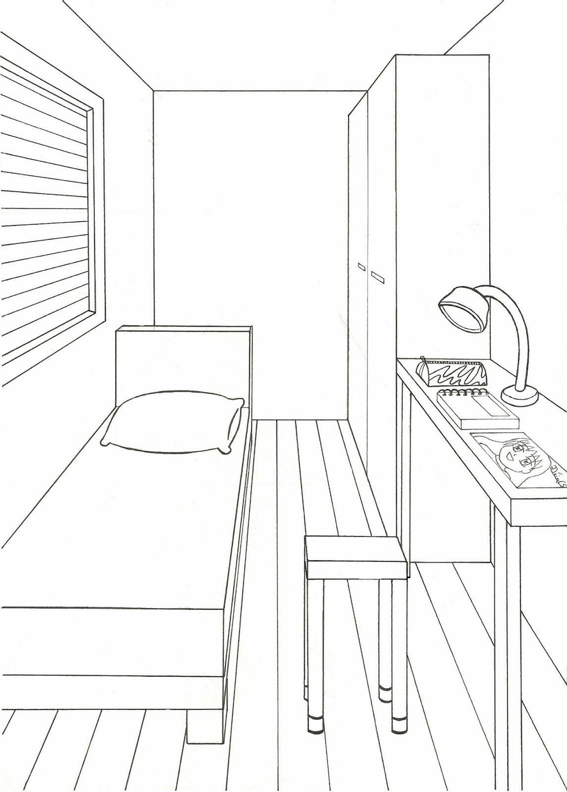 Desenho Em Quarto ~ desenho de um quarto em perspectiva Pesquisa Google DESENHARTH Pinterest Perspective