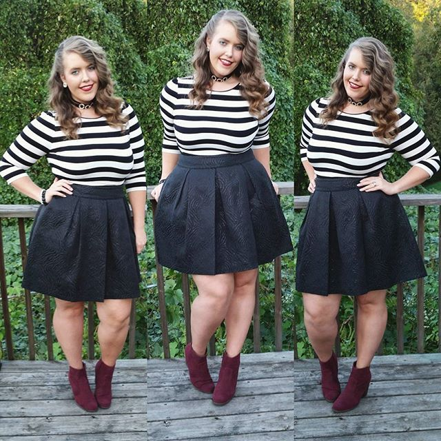 WEBSTA @ hollylindsey_ - I felt like a French girl in this outfit, or maybe a mime...a French mime, even haha also, this outfit is brought to you almost entirely by @thredup :) message me if you want $10 off your first order! ...My version of moto chic for #anySTAGEstyleSeptember, red velvet for #septemberwearwhatwhere, booties for #911style_challenge and #allthingsstyleseptember, stripes for #fallintostylechallenge, and I always compliment strangers for #simplystyledseptember…