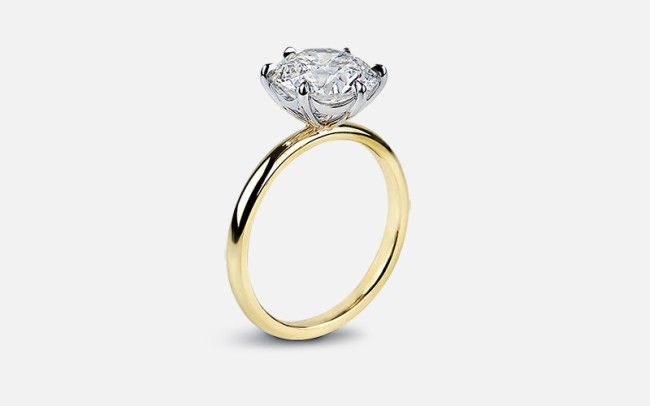 Victor Canera Six Prong Solitaire With Scalloped Basket This In White Gold Is My Dream Setti Prong Engagement Rings Engagement Rings Round Engagement Rings