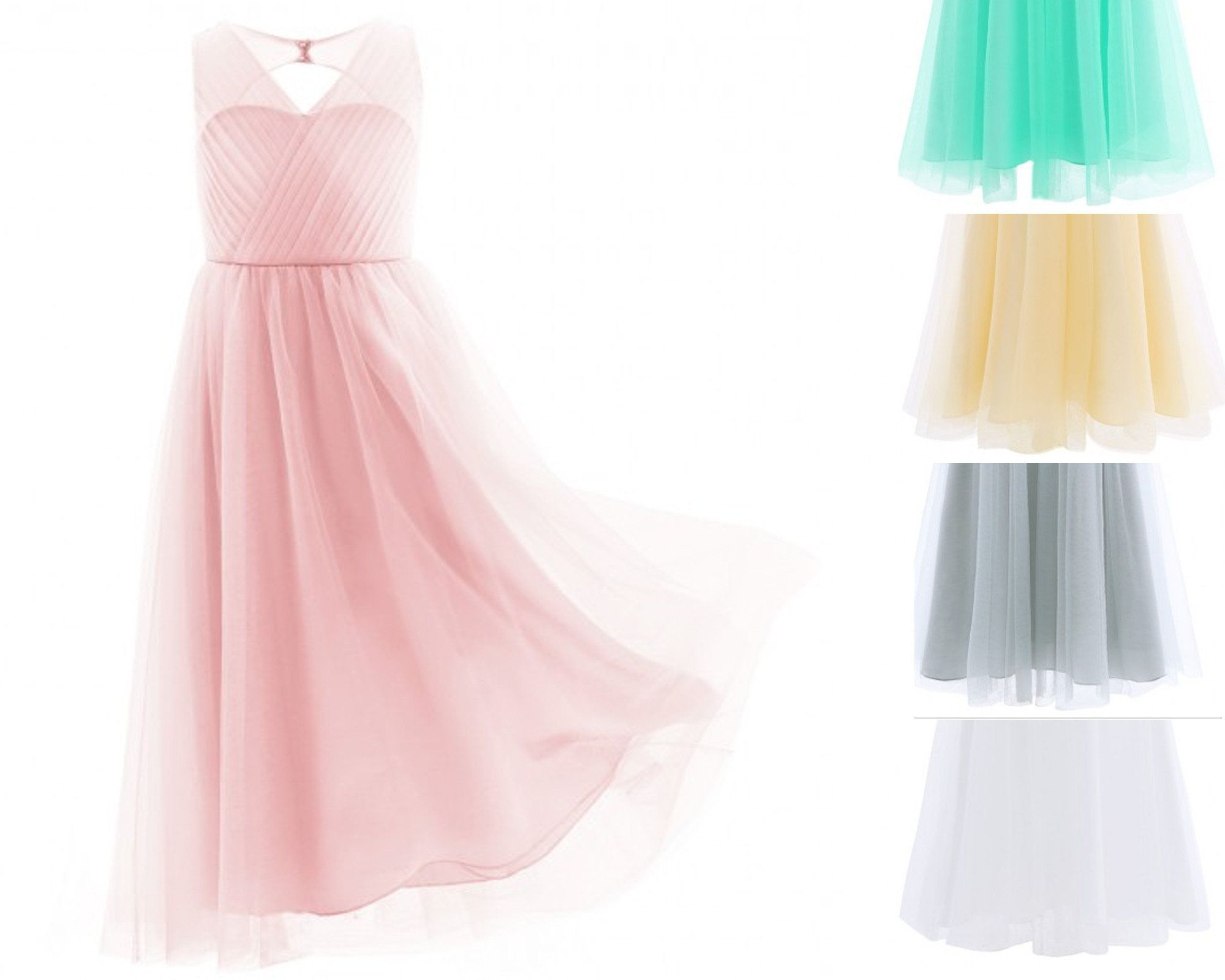 ee0a7ffc4e89 YiZYiF Kids Big Girls Backless Mesh Satin Summer Princess Bridesmaid Wedding  Dance Prom Party Dress  Amazon.co.uk  Clot…