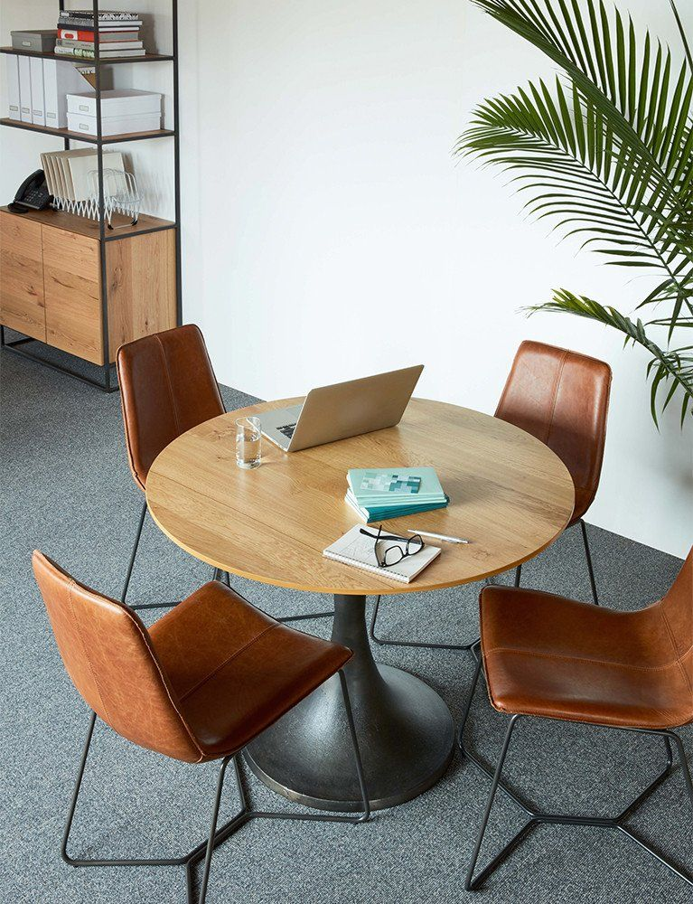 Slope Chair Meeting Room Design Office Seating Area Round Office Table