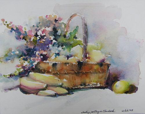 Paint Basket Art Lessons : Painting fealing lin watercolors fruit basket art and