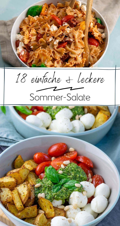 18 schnelle Sommer-Salate – leckere Rezepte – Einfach Malene