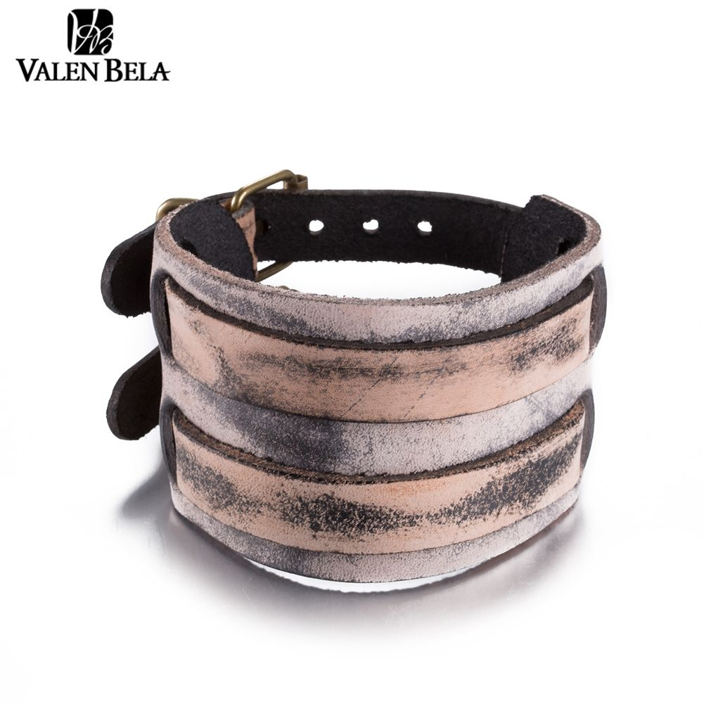 Valen bela colors cuff bracelt fashion jewelry leather bracelets