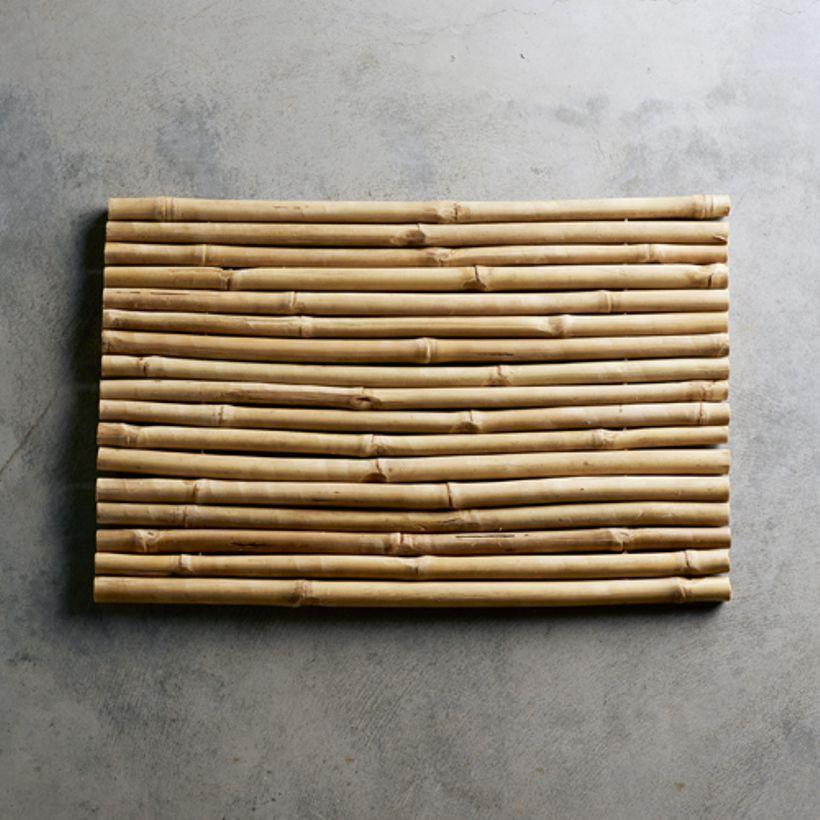 Tapis De Salle De Bain En Bambou Naturel Tine K Home Tapis Salle