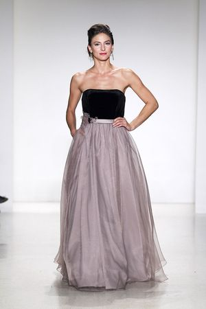 two toned - black with blush;  love the flow of the dress