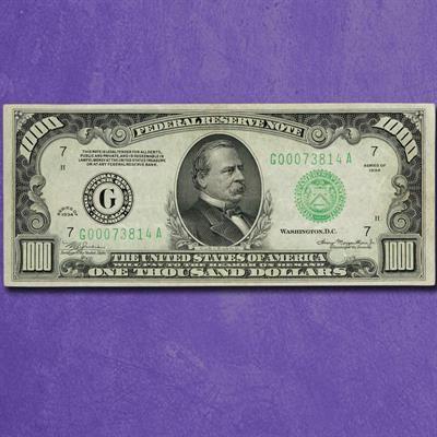 The Last U S 1 000 Bill Banknotes Money Paper Currency Bills