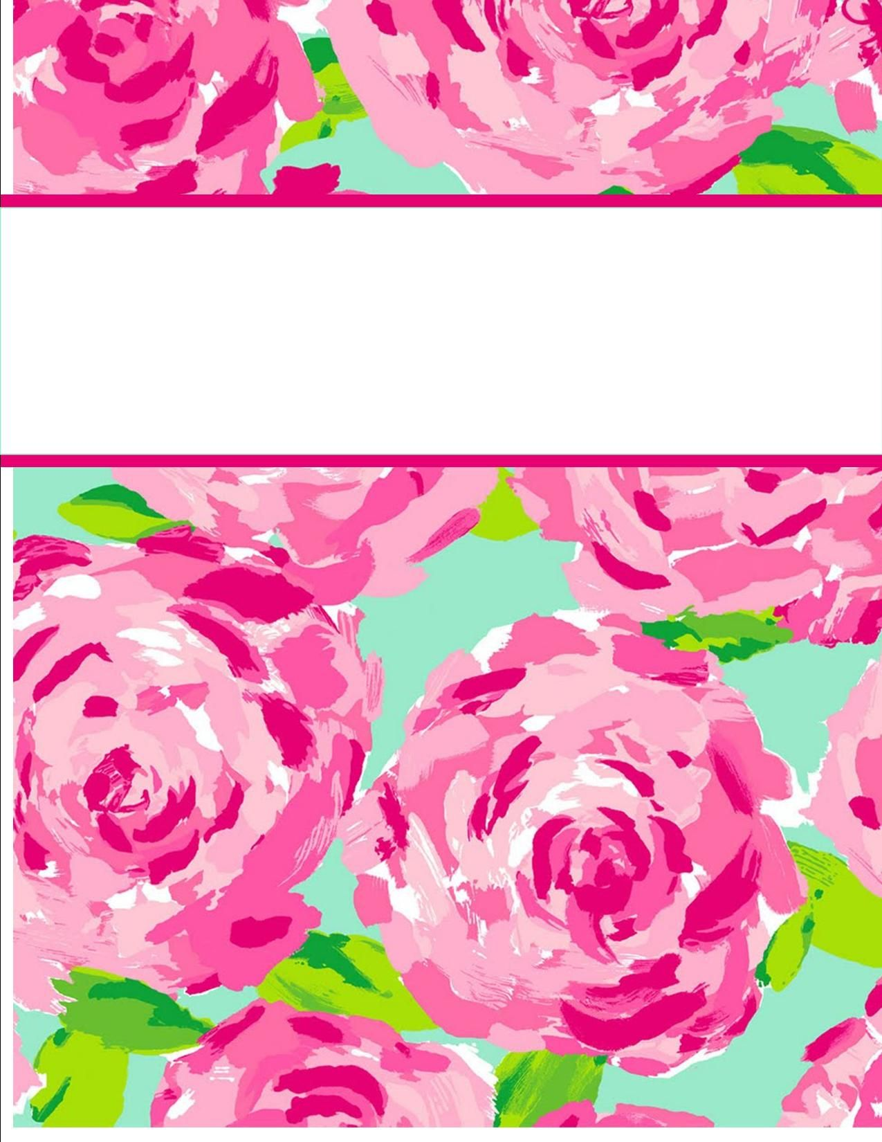 Free printable tulip binder cover template. Download the cover in ...