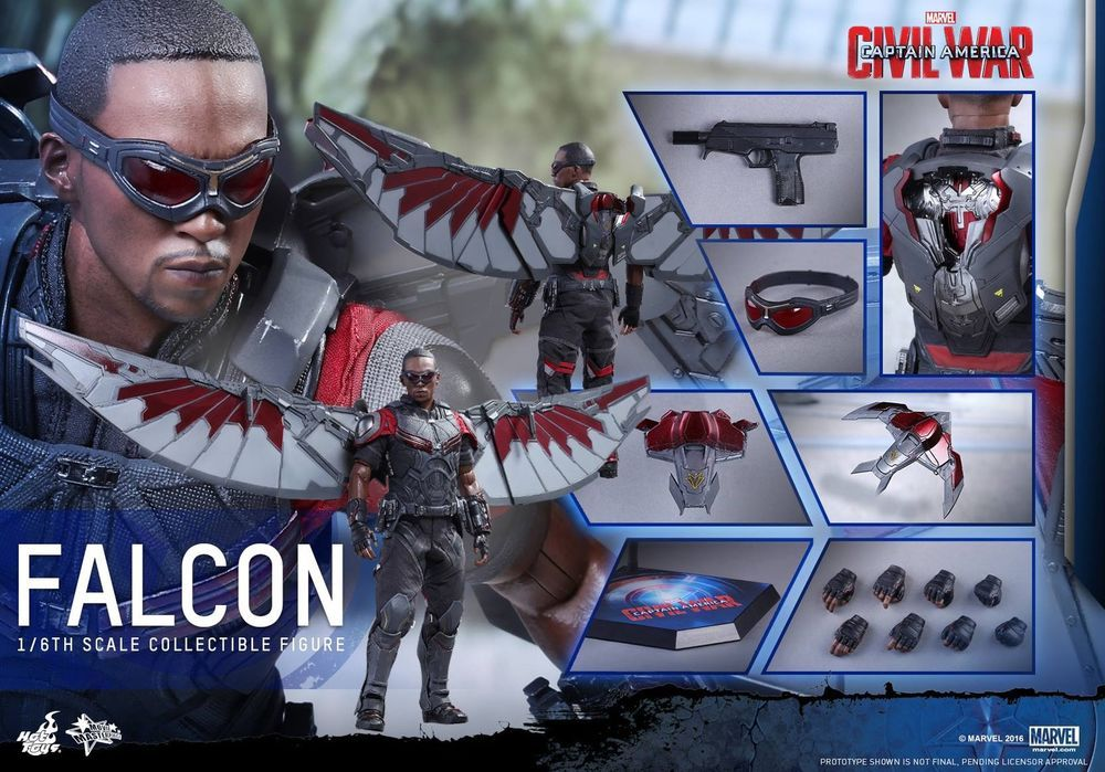 Falcon Sam Wilson Marvel The Avengers Infinity War Action Figure Model Toy