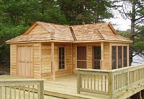 Backyard Cabin Plans Images