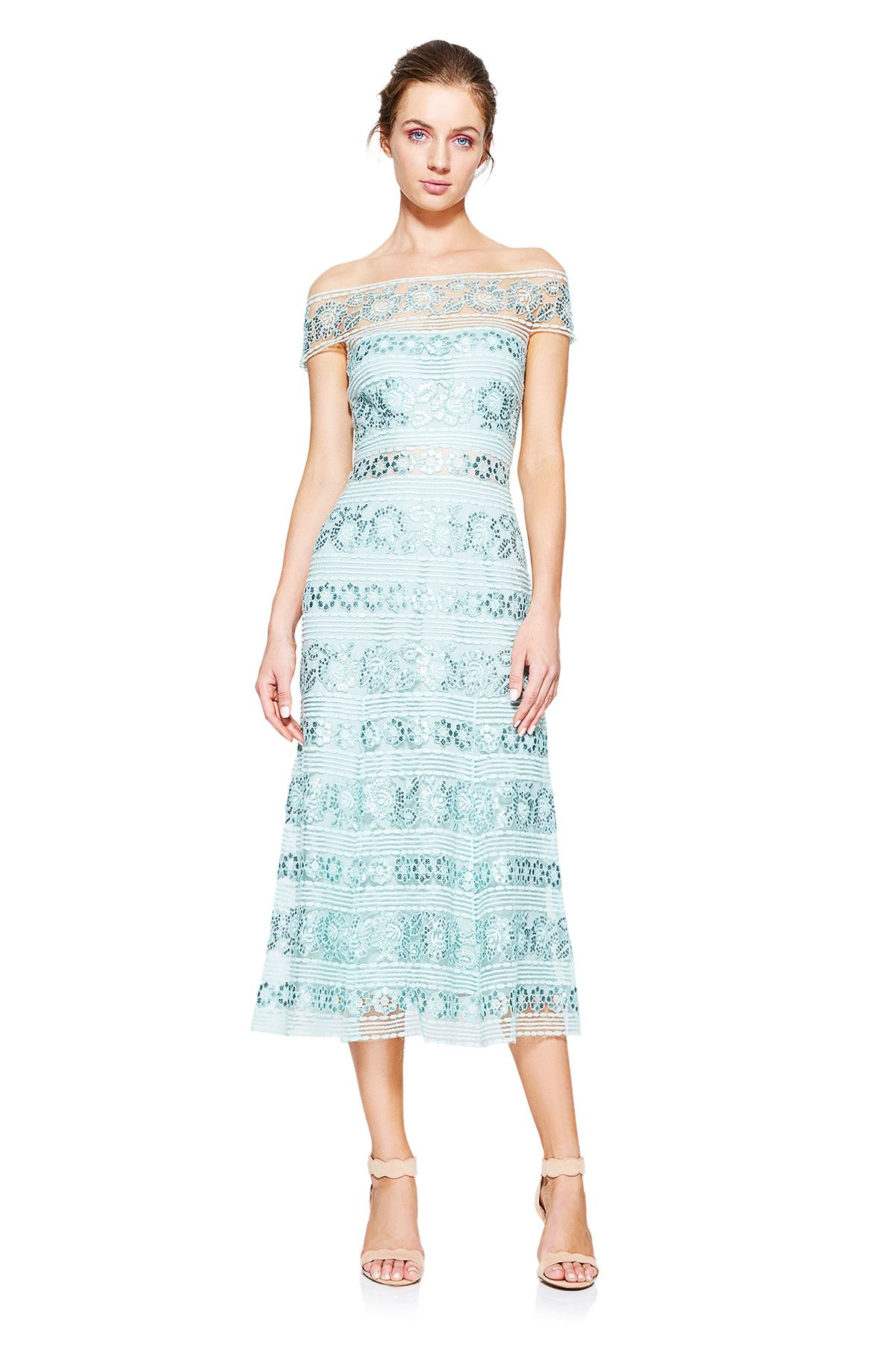 Tadashi Shoji - Anneliese Tea-Length Dress | Mother of Groom | Pinterest