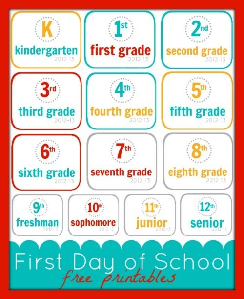 Free Printable Friday: First Day of School {K-12}