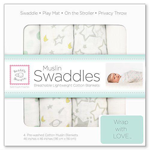 SwaddleDesigns Muslin Swaddle Blanket, Goodnight Starshine, 4 Count SwaddleDesigns http://www.amazon.com/dp/B00J0YTG3O/ref=cm_sw_r_pi_dp_2V5Avb1V4P4Y2