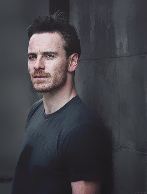 Profile / long hair / woods   Michael fassbender and