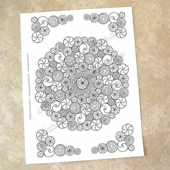 Candy Kaleidoscope  - copy coloring pages barbie ballerina