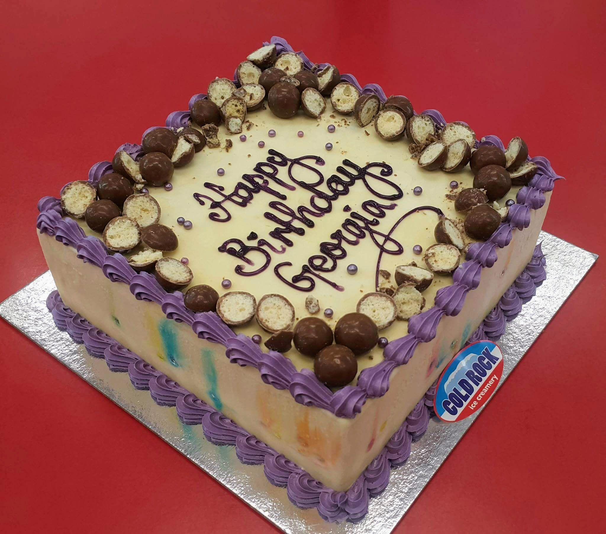 Cold Rock Birthday Celebration Cake Coldrock Cakes Ice