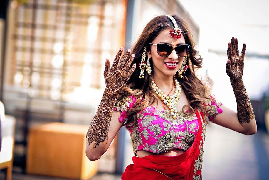 Lehenga For Mehndi Ceremony : Add a refreshing touch to your mehendi haldi ceremony with these