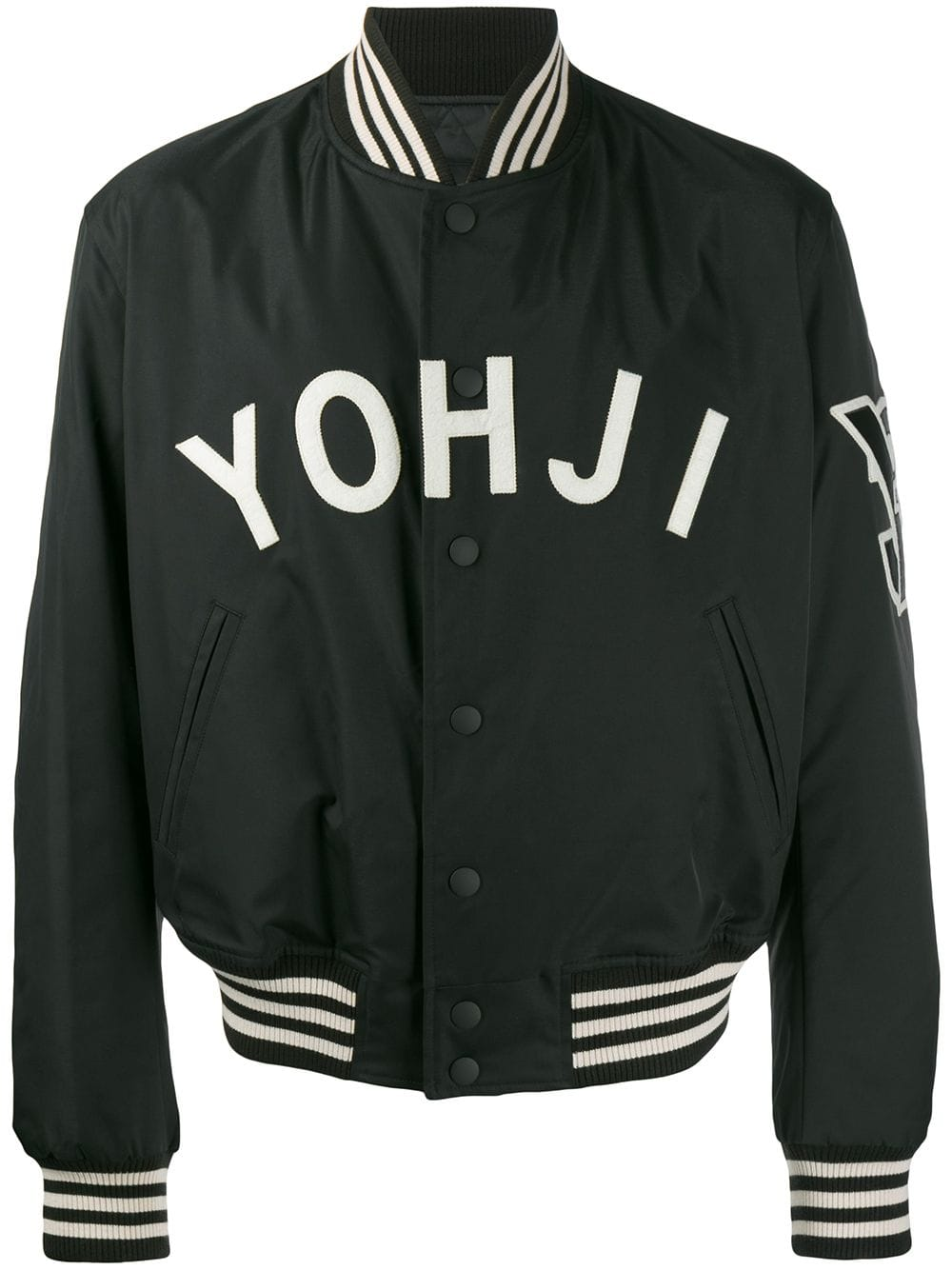 Y 3 Y 3 Yohji Embroidered Bomber Jacket Schwarz Embroidered Bomber Jacket Jackets Black Bomber Jacket