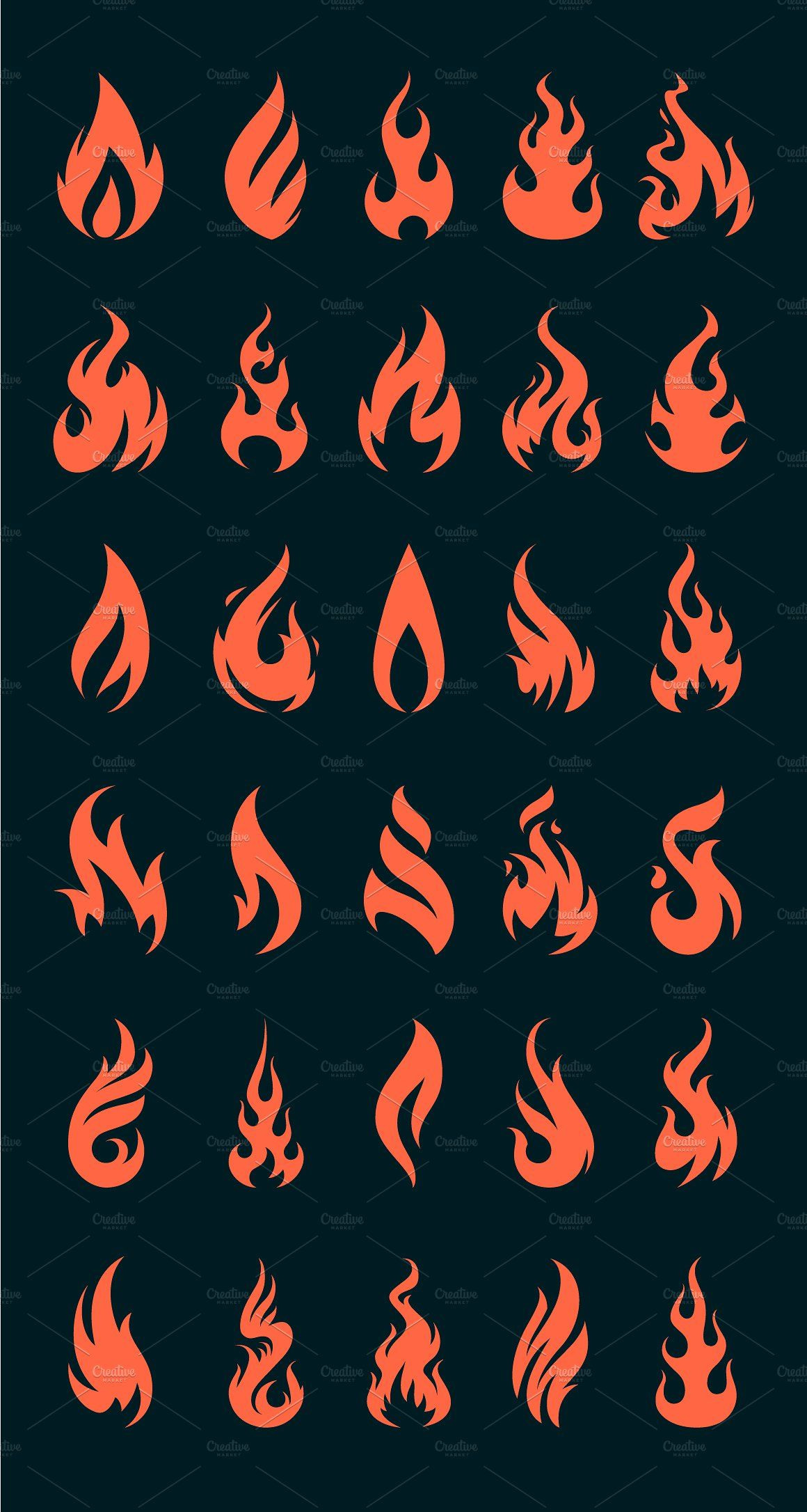 Vector Fire Icons Fire